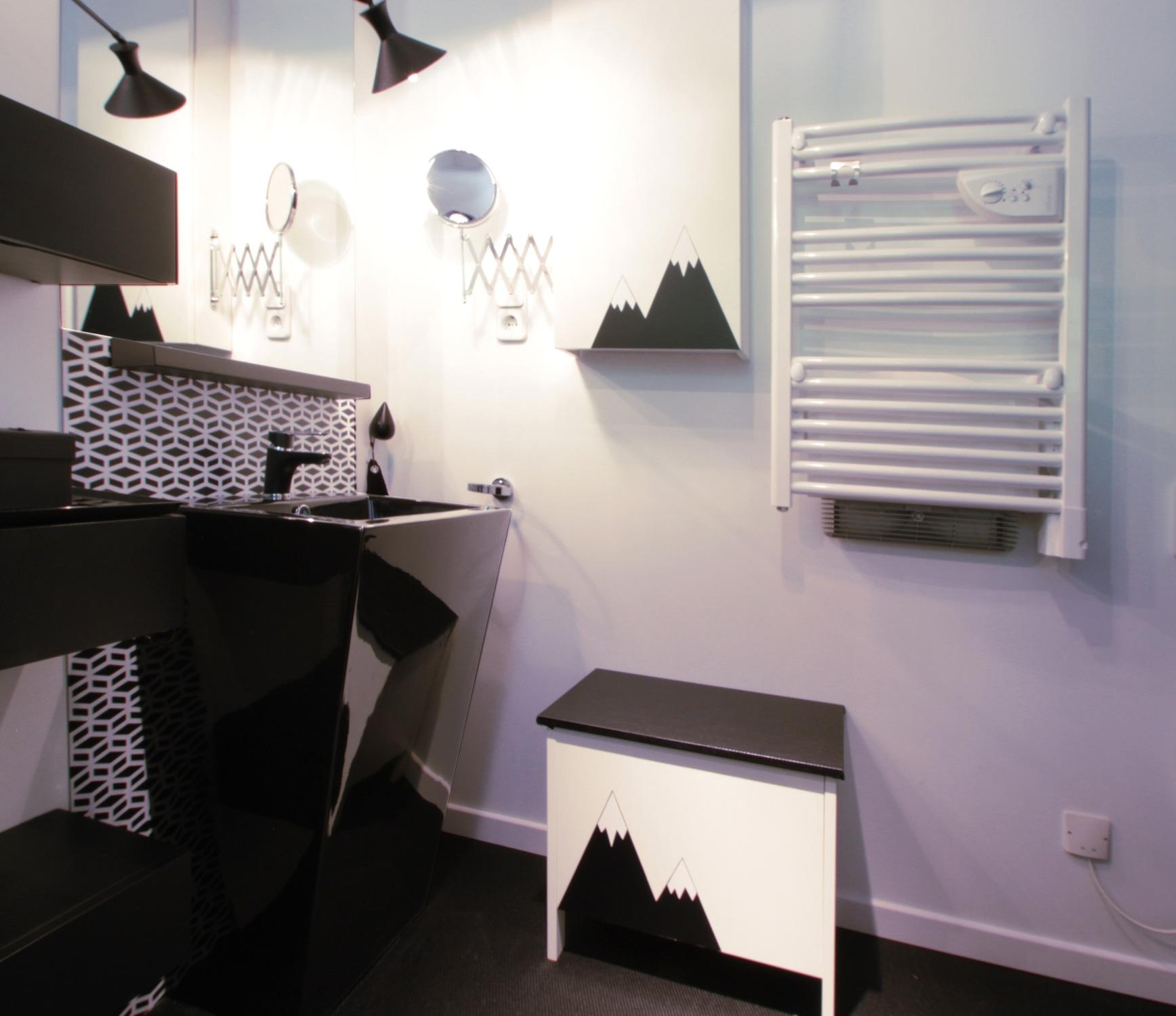 Deco 1 meuble rangement sdb malo design for Enseigne salle de bain